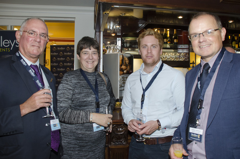 Philip Rallison & Hilary Amesbury (Wollon Michelmore Solicitors), Freddie Shuttleworth (Trinity Mirror) and Robin Middleton