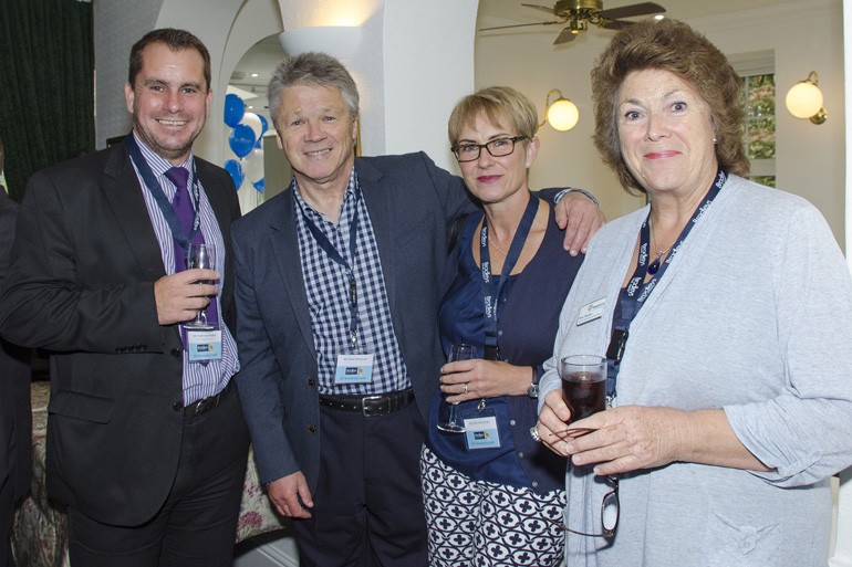 Mathew Becker (Curtis WHiteford Crocker), Steve and Kim Perryman, Pam Warren (Exmouth & Lympstone Hospiscare)