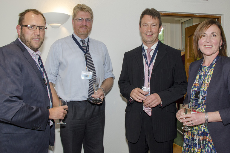 Simon Dunstan & Harry Langley (SW Comms), Mike Dibble, Nicky Tait (Natwest Bank)